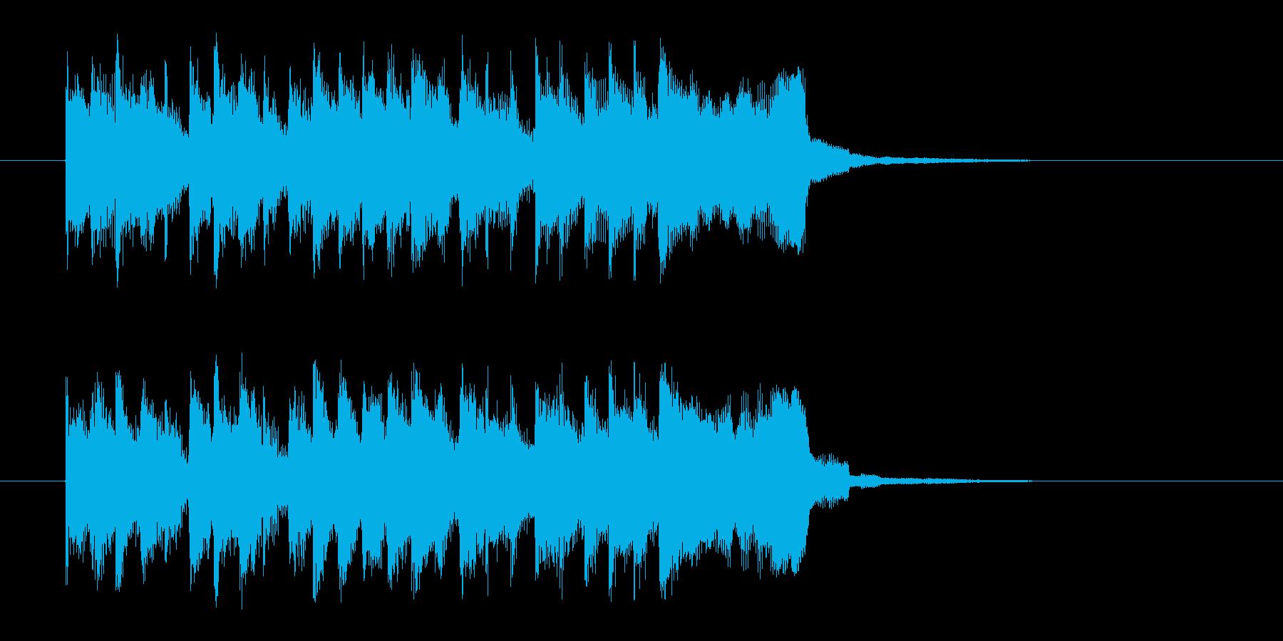 勢いと楽しげなドラムシンセサウンド短めの再生済みの波形