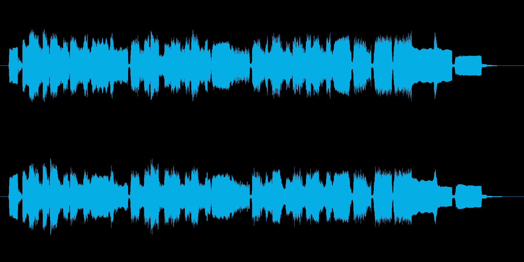 へたっぴ演奏のかわいいジングルの再生済みの波形
