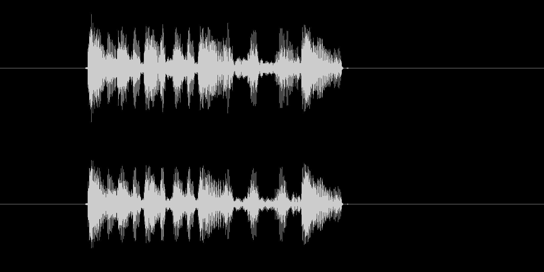 トゥルートットットッ(追われてる、焦り)の未再生の波形