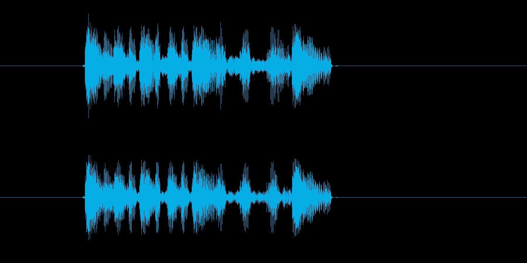 トゥルートットットッ(追われてる、焦り)の再生済みの波形