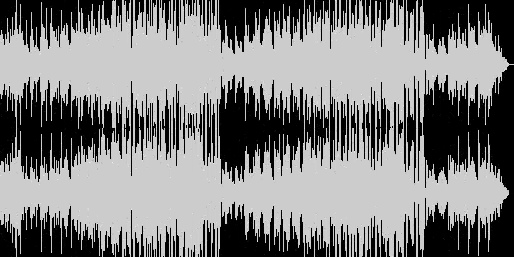 ポップに展開していく明るめの曲の未再生の波形