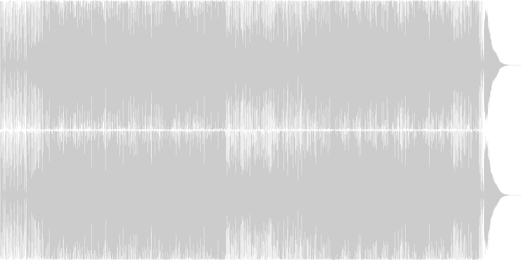 和楽器を使用した和風EDM、映像等にの未再生の波形