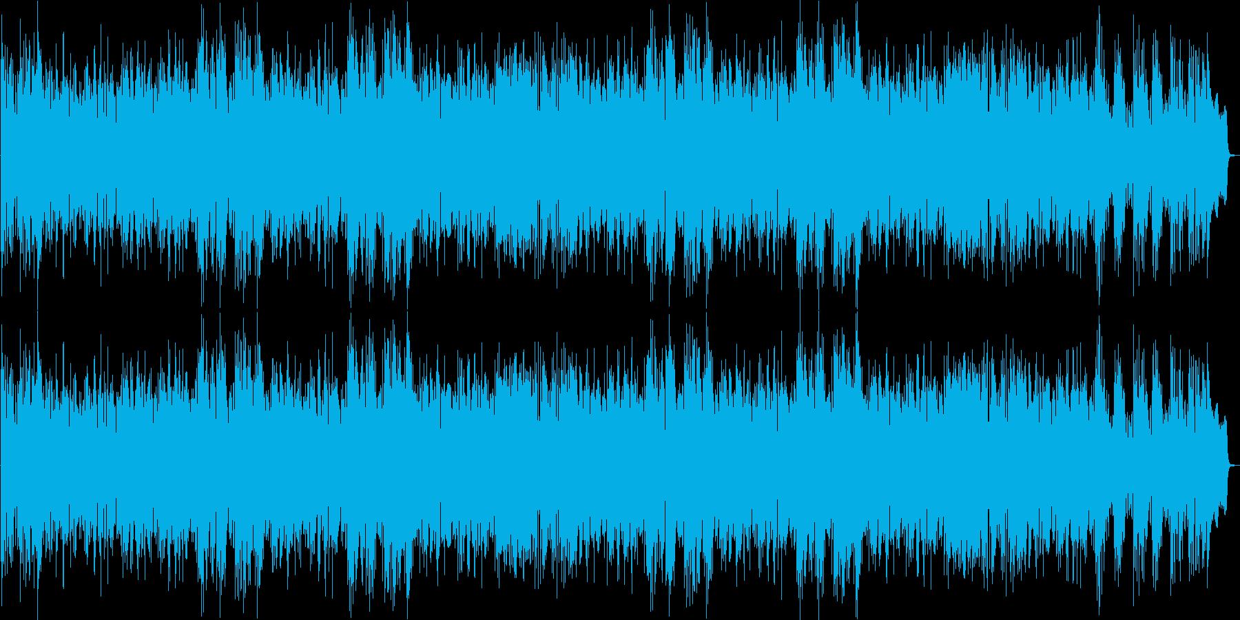 明るいダンス音楽(ループにもできます。)の再生済みの波形