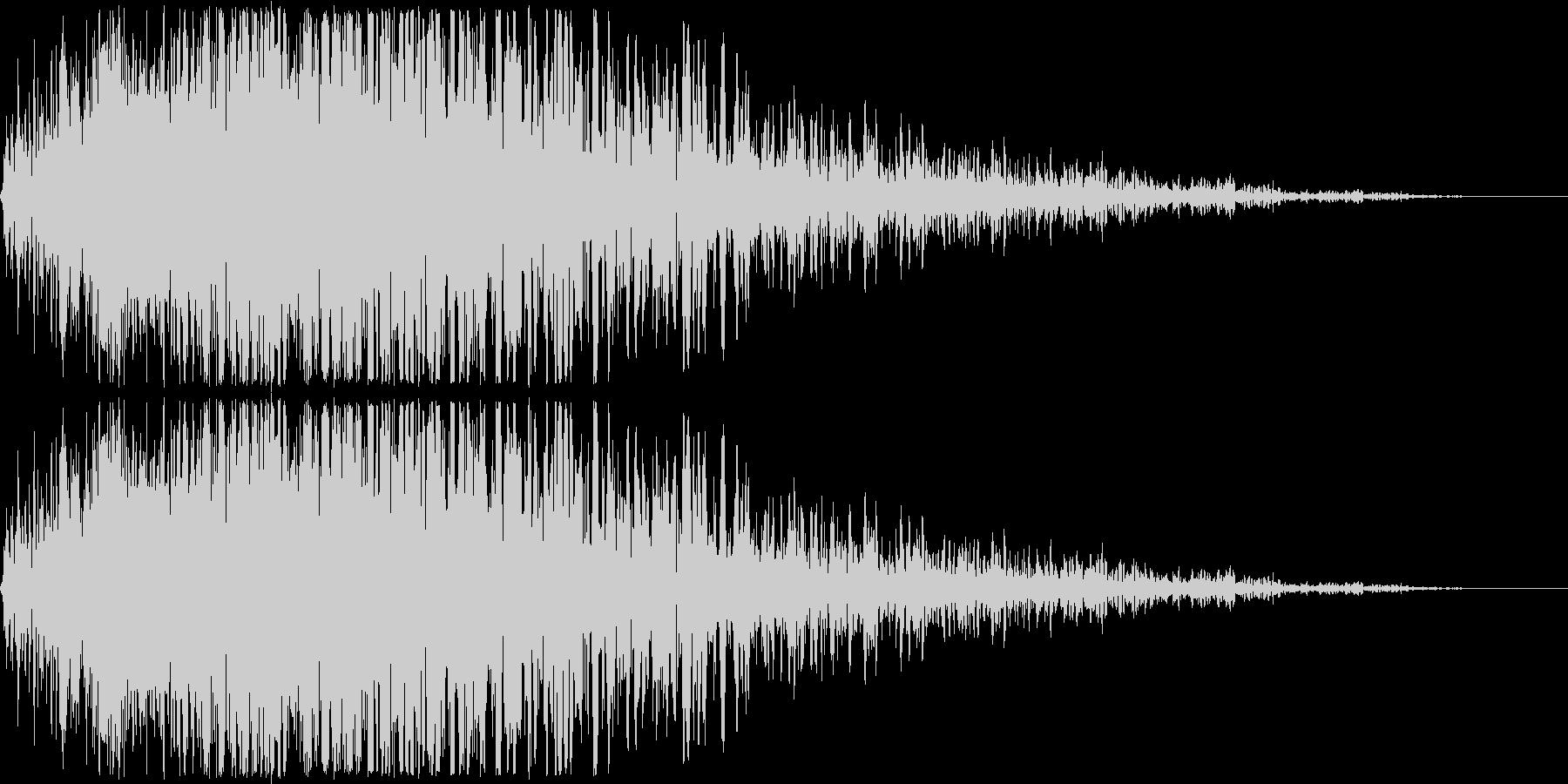 ゲームで使われそうな地響きのような低音…の未再生の波形