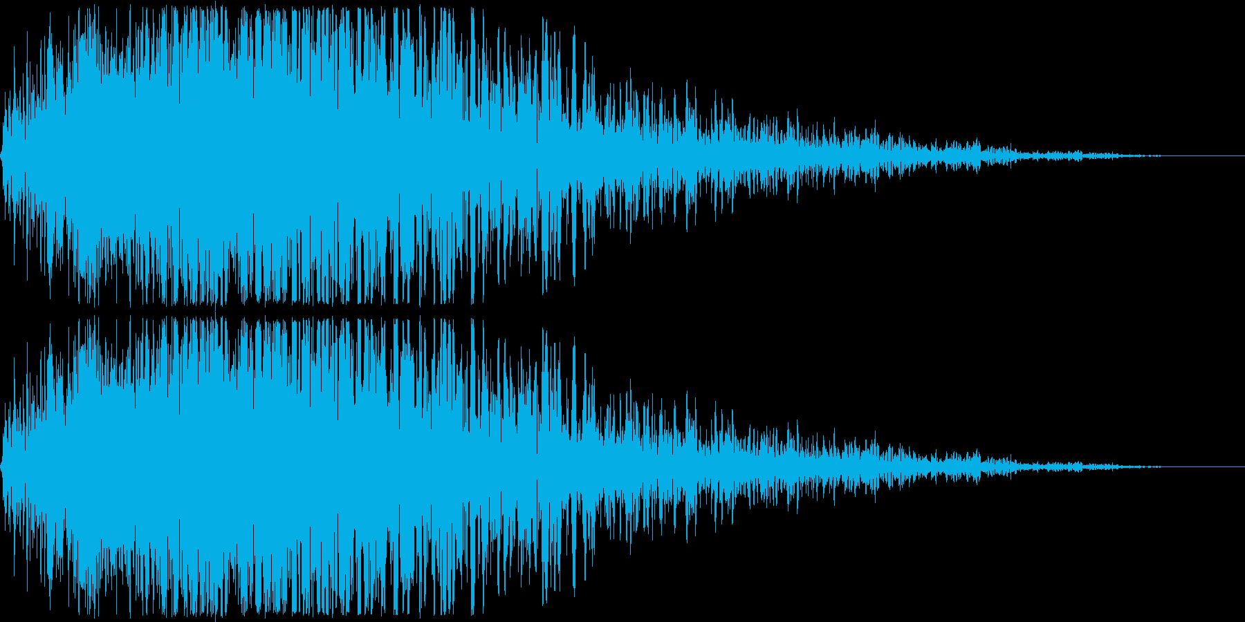 ゲームで使われそうな地響きのような低音…の再生済みの波形