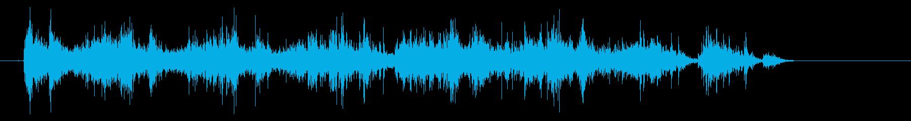 タンバリンの音(しゃんしゃんしゃん)の再生済みの波形