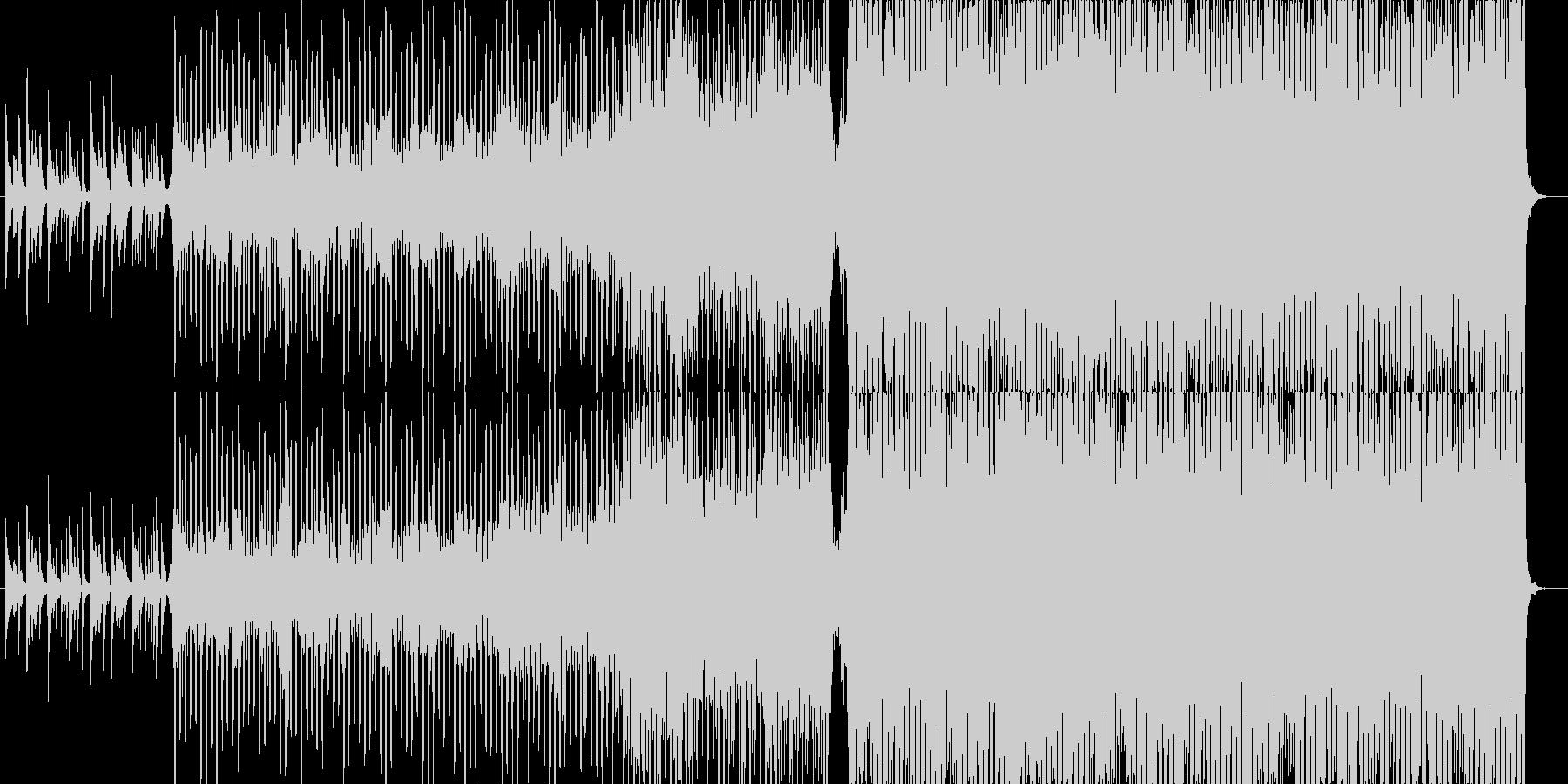 ピアノから始まる幻想的な哀愁テクノポップの未再生の波形