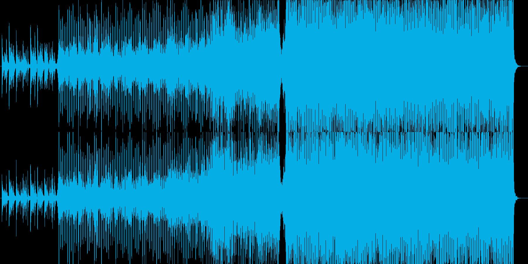 ピアノから始まる幻想的な哀愁テクノポップの再生済みの波形