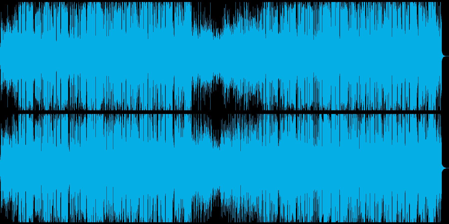クラリネットのひょうきんなジャズの再生済みの波形