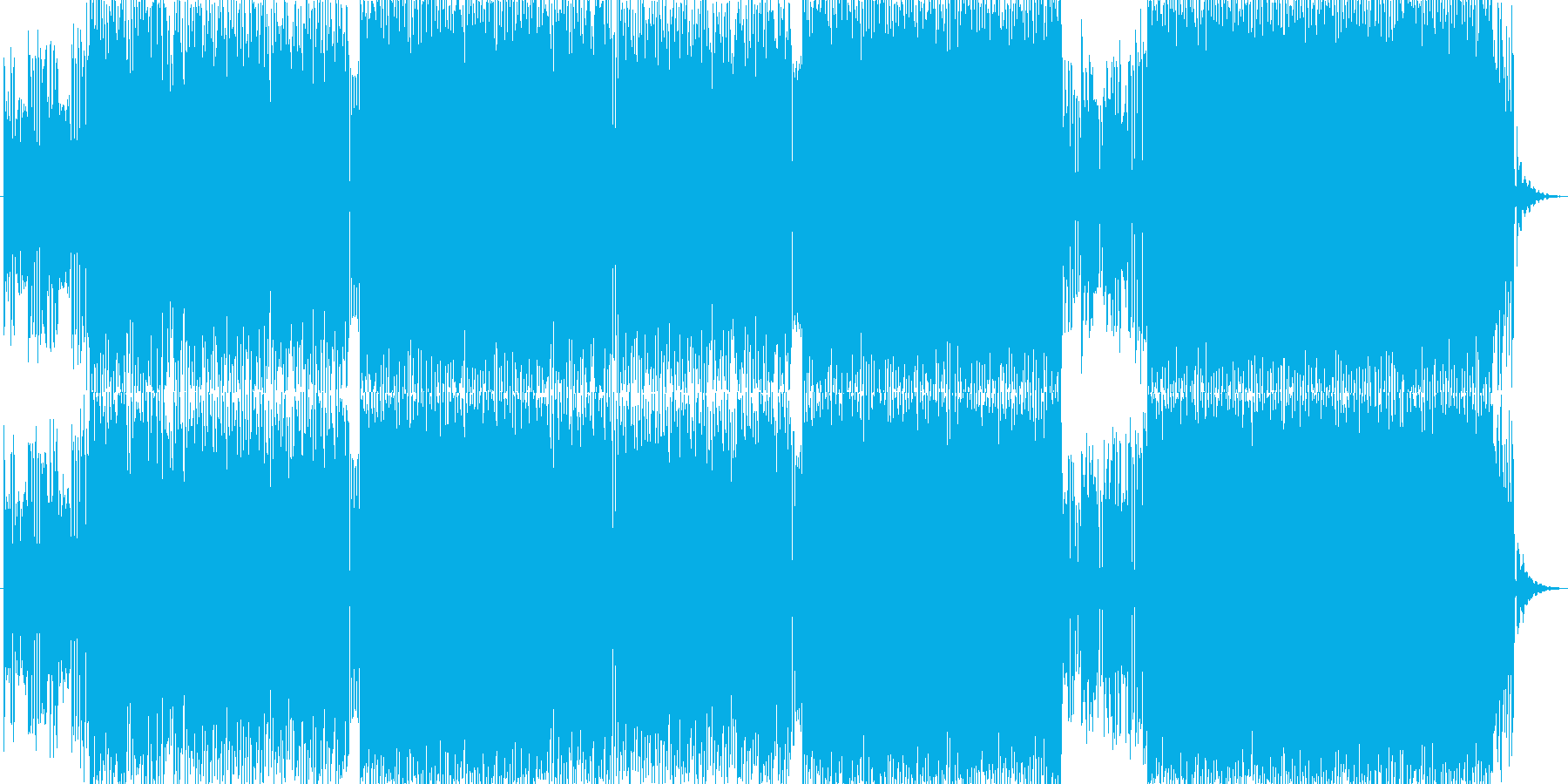 可愛らしい雰囲気のアップテンポ曲です。の再生済みの波形