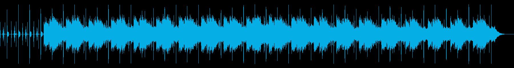 穏やかに時間が流れるようなジングルの再生済みの波形