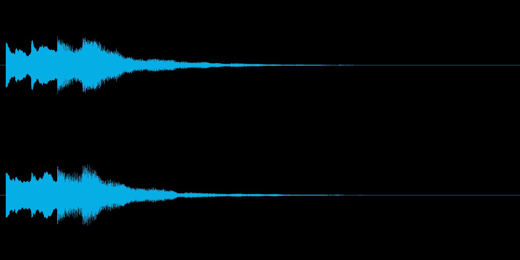 【チャイム 注意01-up】の再生済みの波形