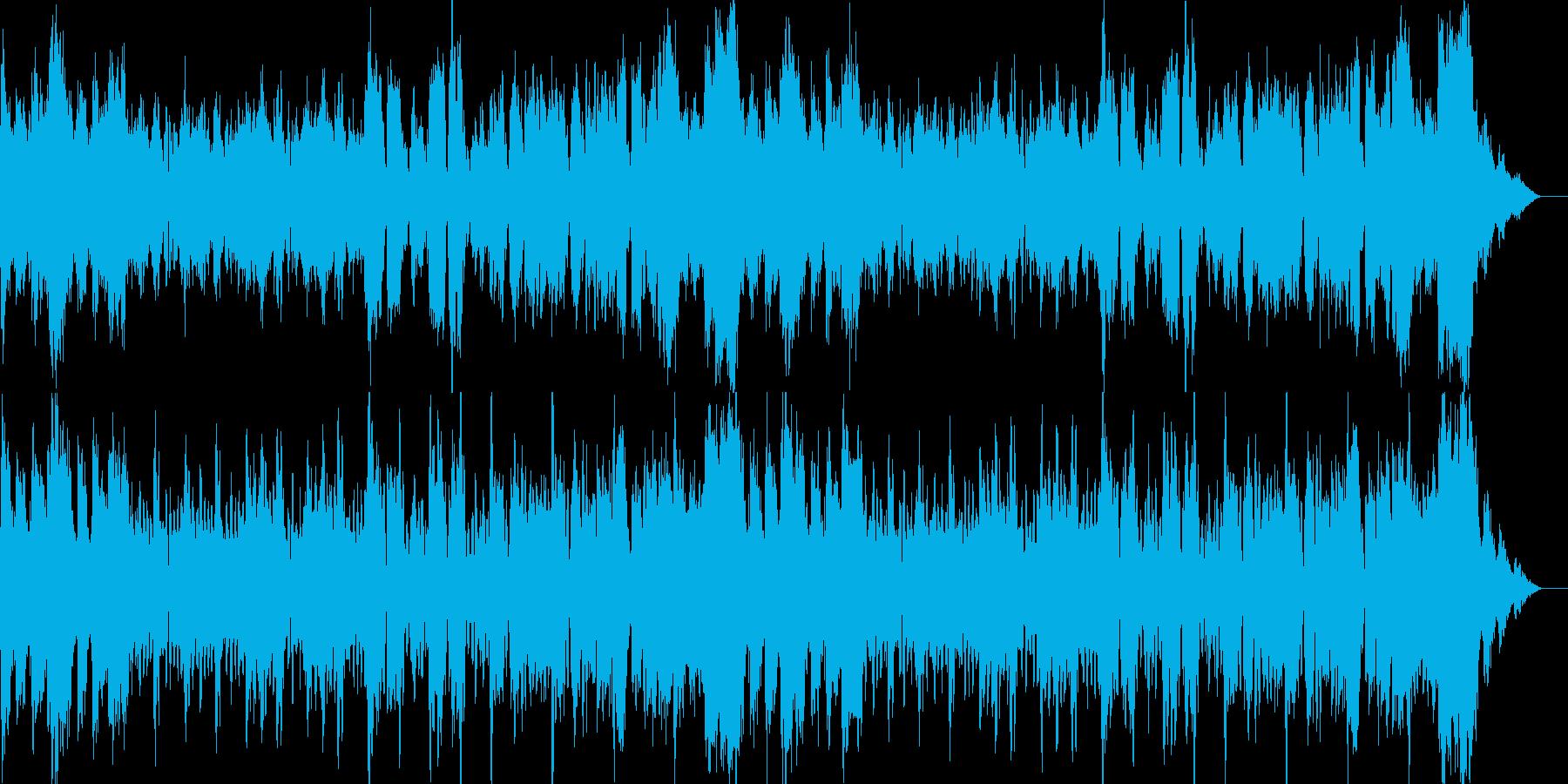 威圧感と熱量があるオーケストラ楽曲の再生済みの波形