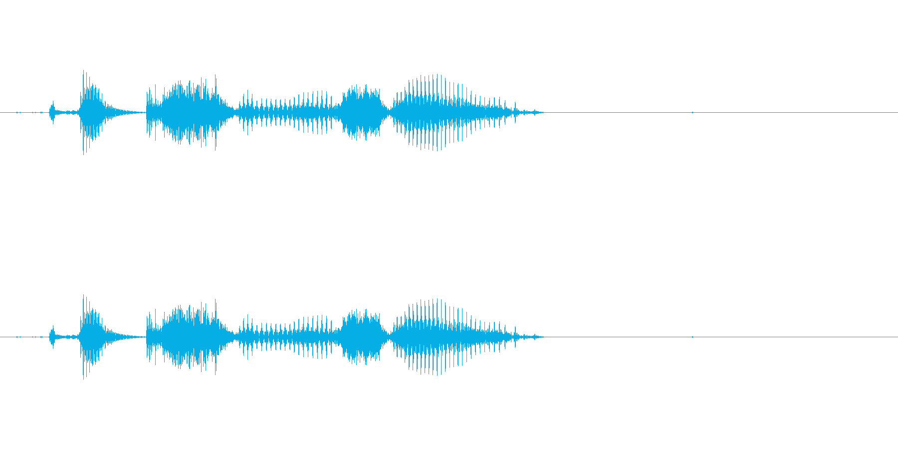 国士無双(麻雀)の再生済みの波形