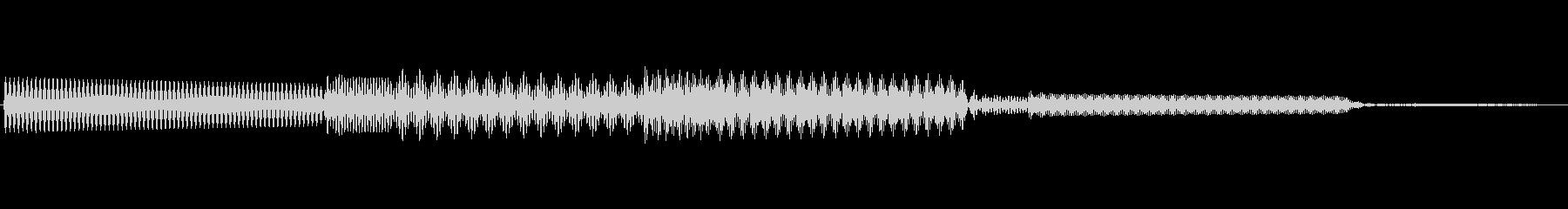ボタン決定音システム選択タッチ登録A01の未再生の波形