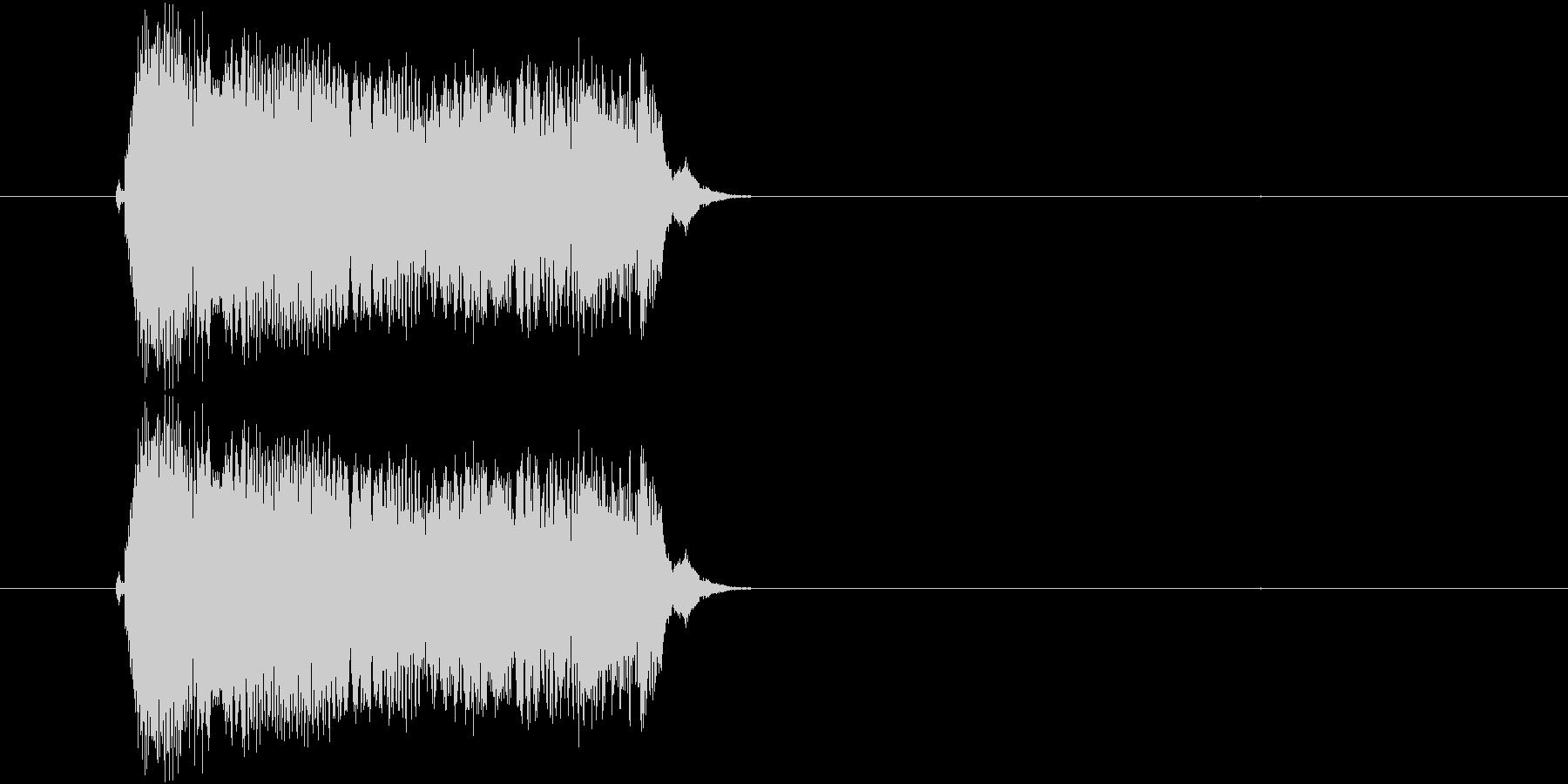 子どもの叫び声(3声)の未再生の波形