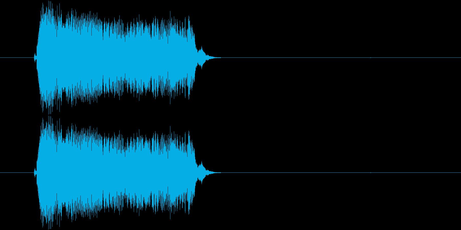 子どもの叫び声(3声)の再生済みの波形