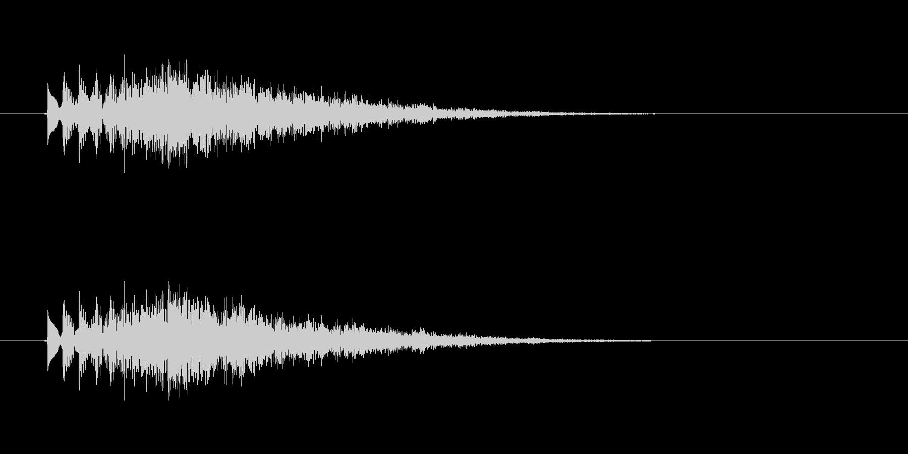 キラキラ(グリッサンド)の未再生の波形