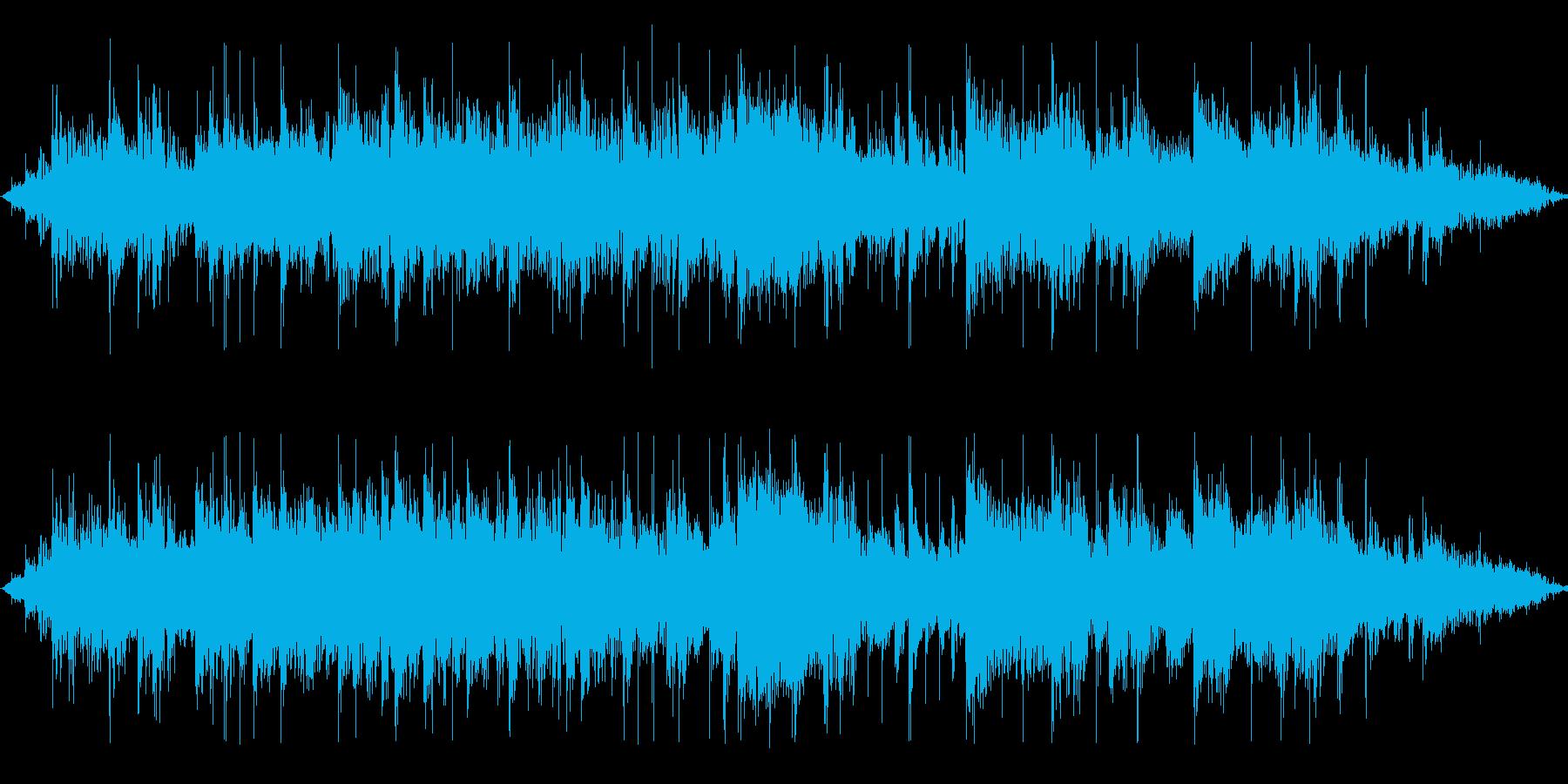 ミステリアスでロックな15秒BGMの再生済みの波形