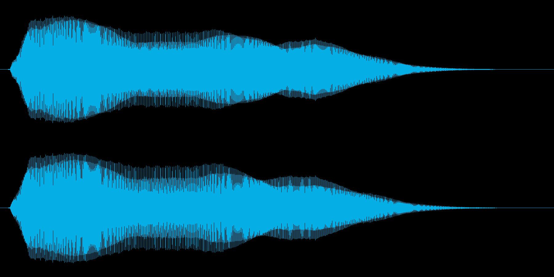 ピュウウーンというコミカルな音の再生済みの波形