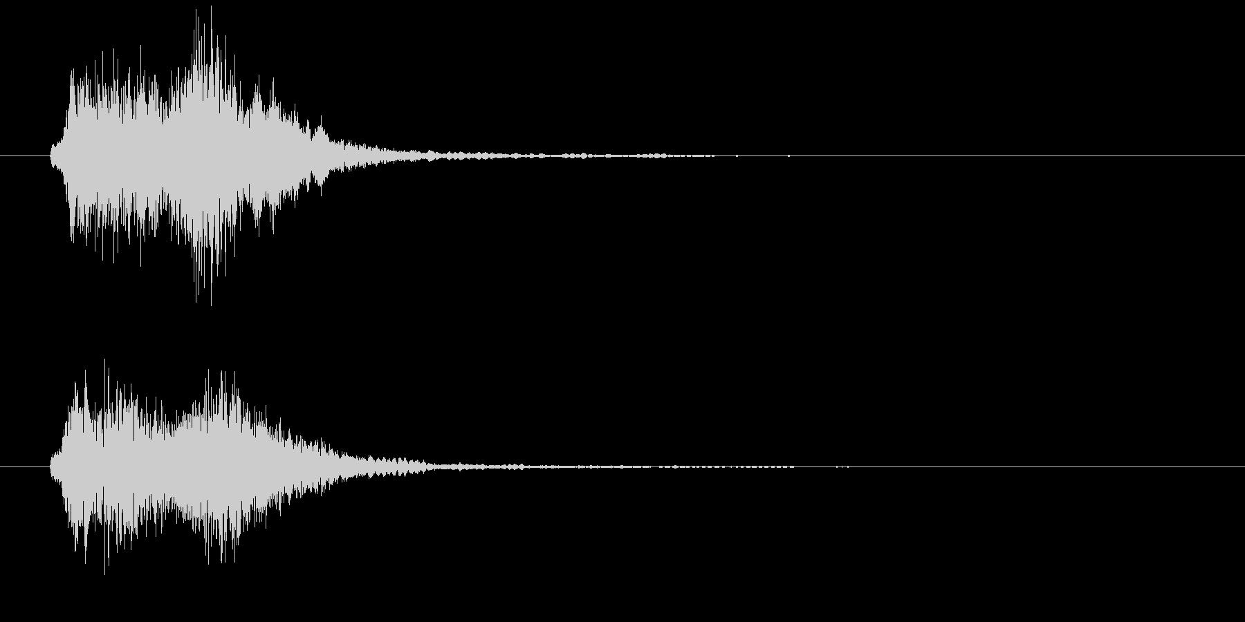 ストリングスによる場面展開の音の未再生の波形