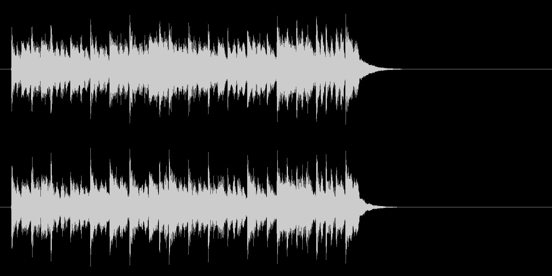 感動の終わりを迎える楽曲(イントロ)の未再生の波形