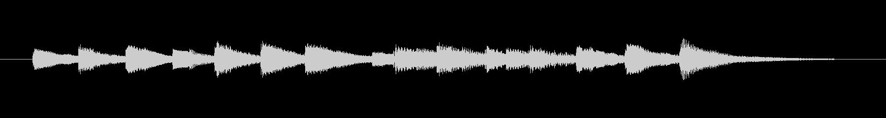 オルゴール音の短いベルの未再生の波形