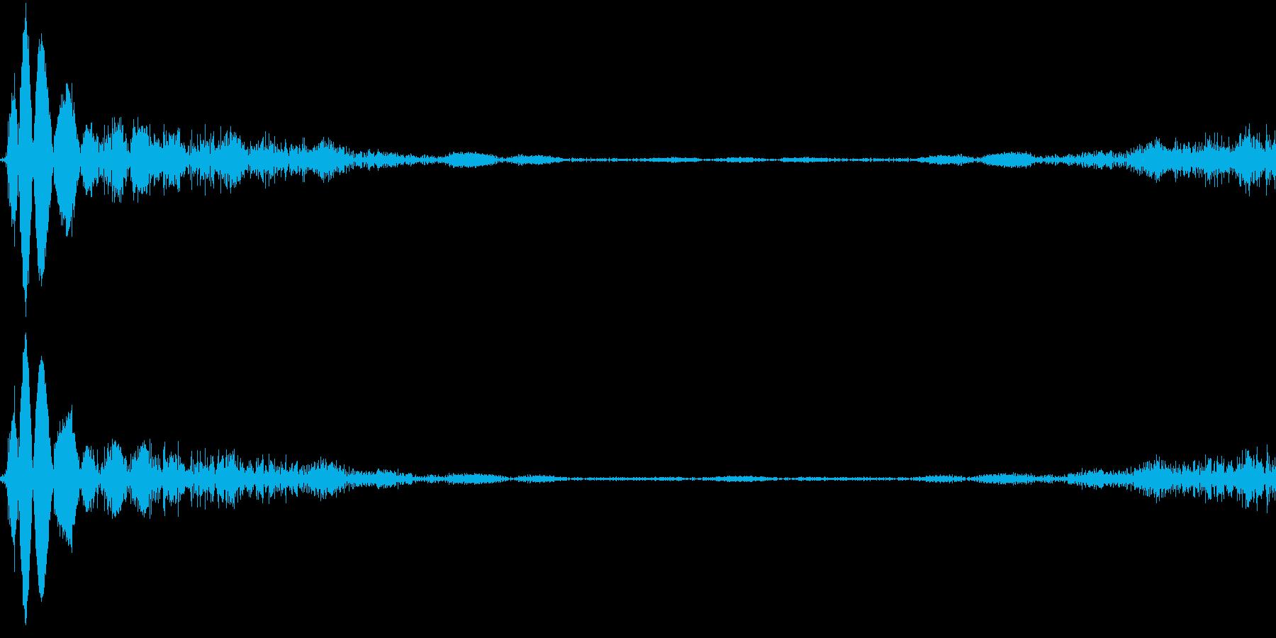 定番DJスクラッチ。特に音楽制作向きの再生済みの波形