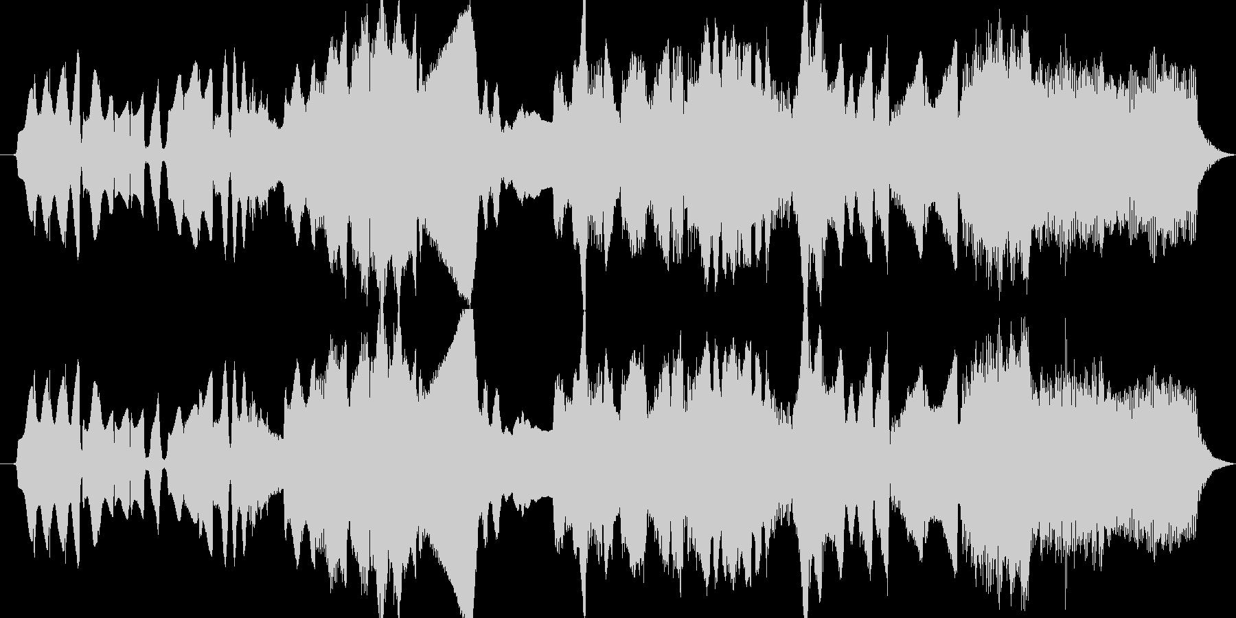 鍵盤ハーモニカとパイプオルガンによる牧歌の未再生の波形