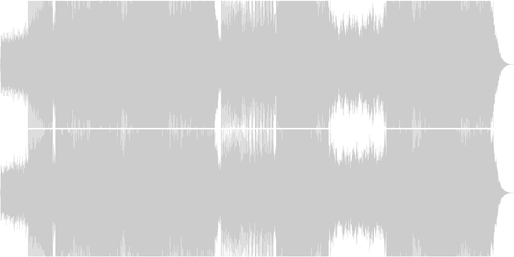 「別れの曲」トランス系アレンジの未再生の波形