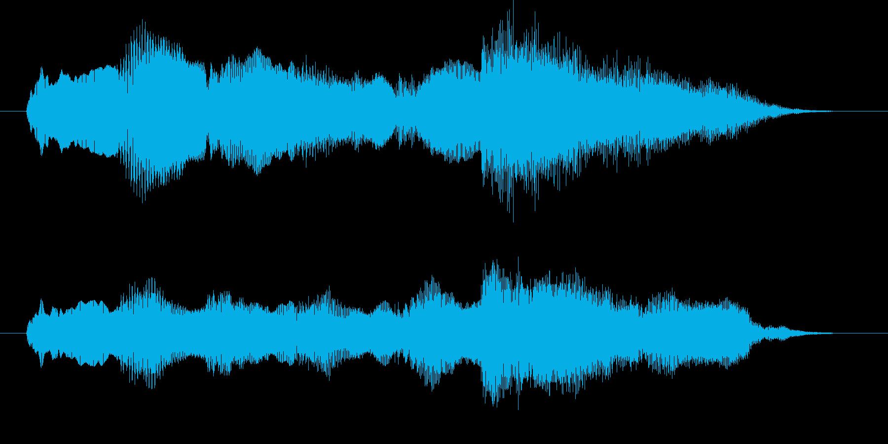 最悪の場面・ゲームオーバーのジングルの再生済みの波形