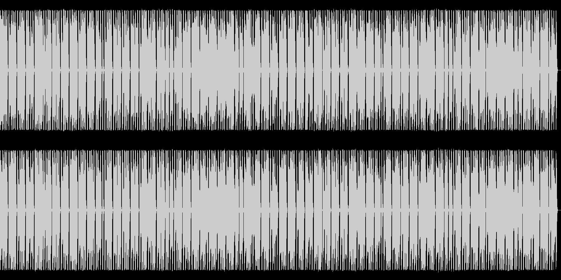 プログレ風シンセ行進曲の未再生の波形