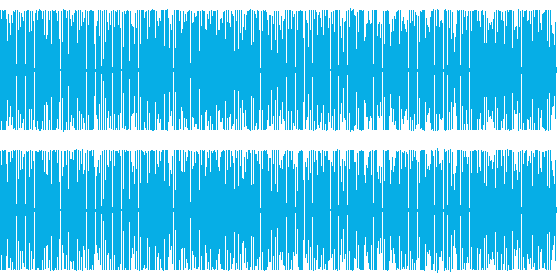 プログレ風シンセ行進曲の再生済みの波形