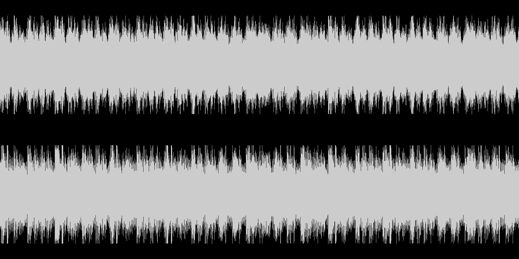 同じフレーズを繰り返すゆったりした楽曲の未再生の波形