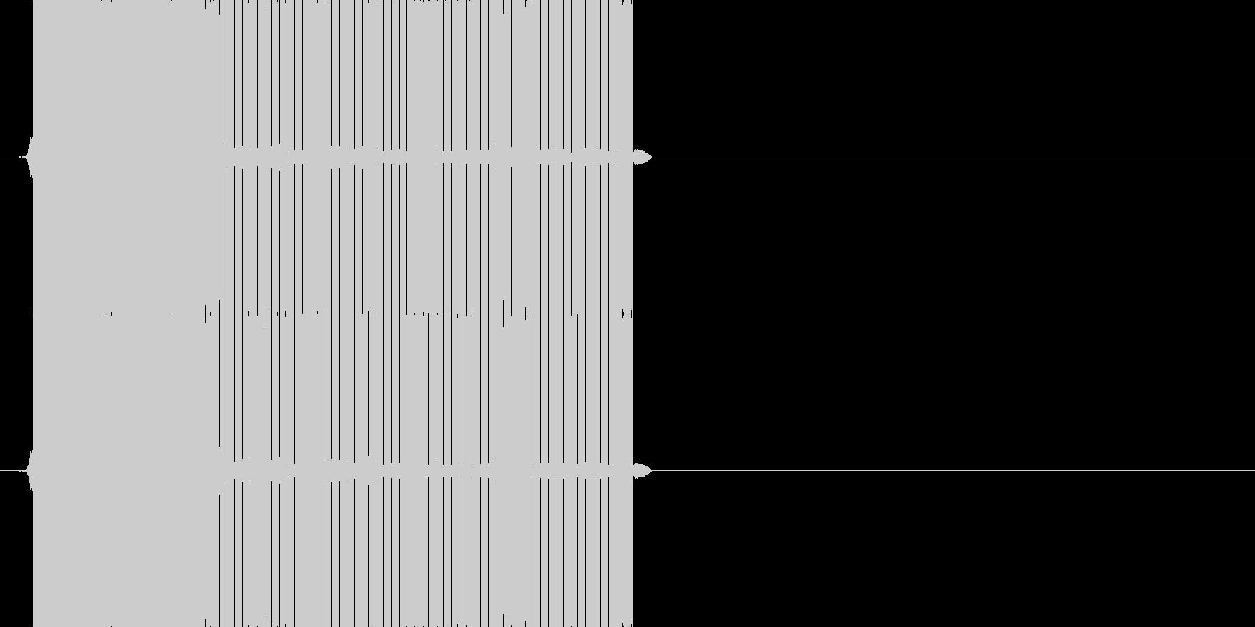 ピロー(正解の音)の未再生の波形