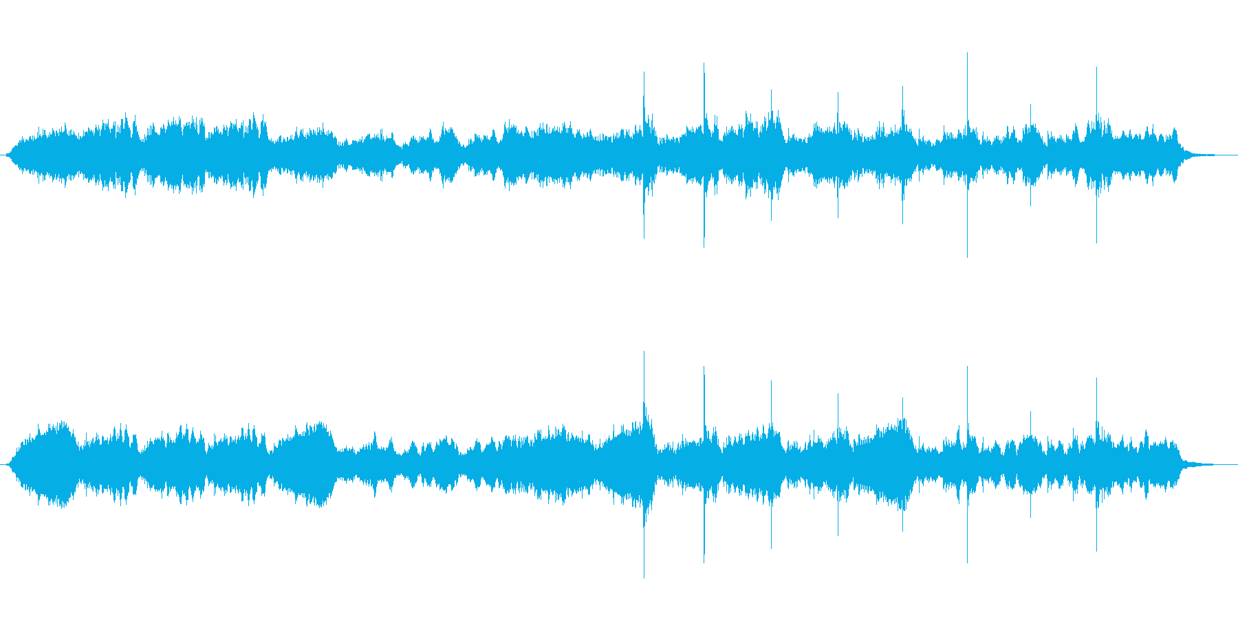 ボスキャラの登場時のイメージですの再生済みの波形
