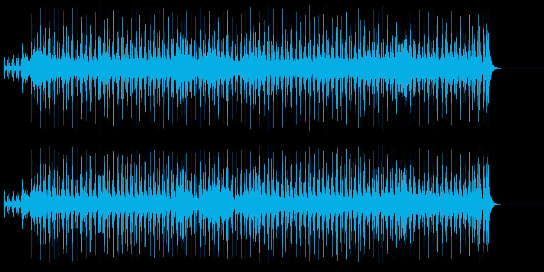 シャッフルする三味線とドライブする笛の再生済みの波形