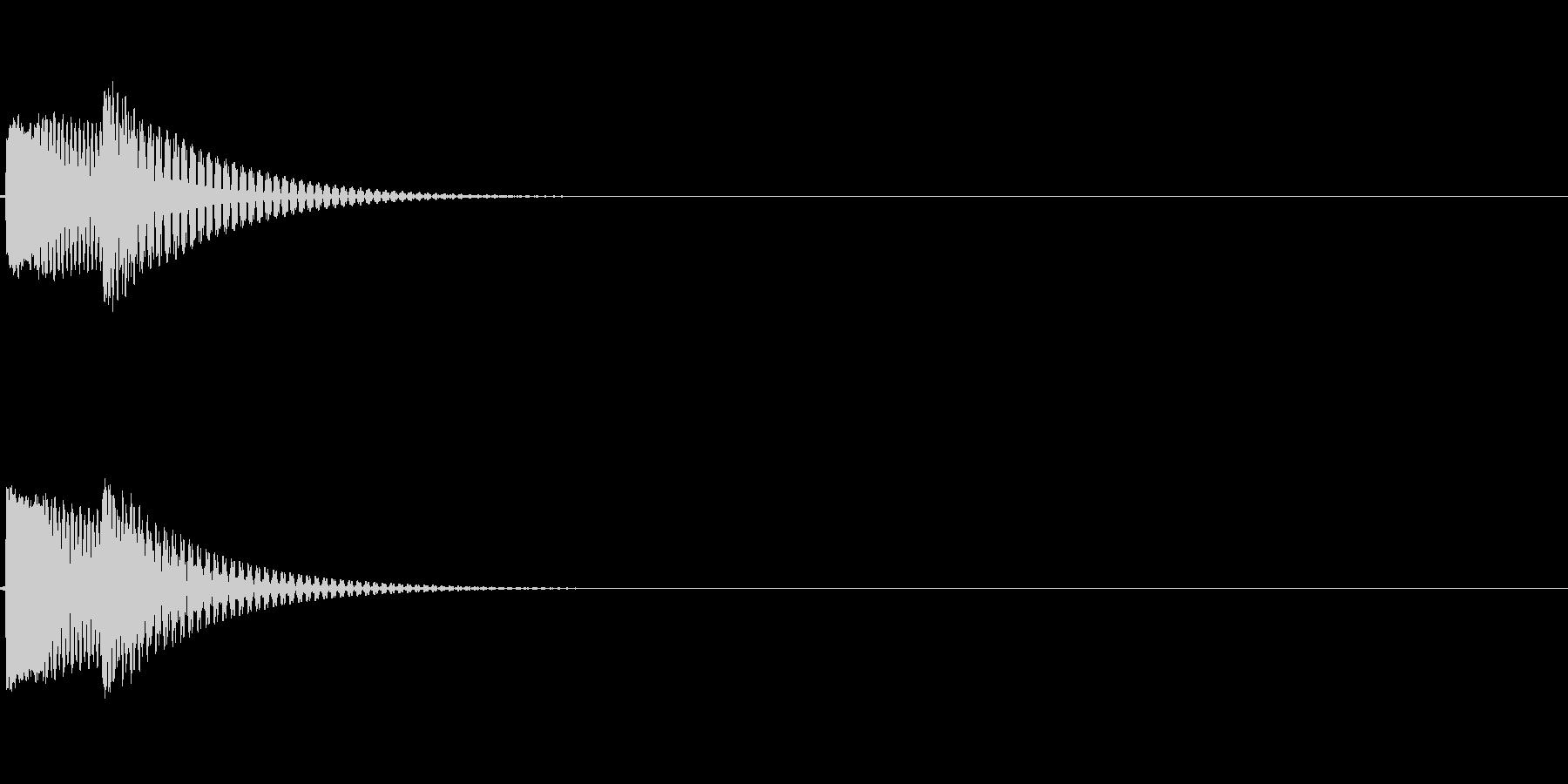 【システム音セット03-ポップダウン】の未再生の波形