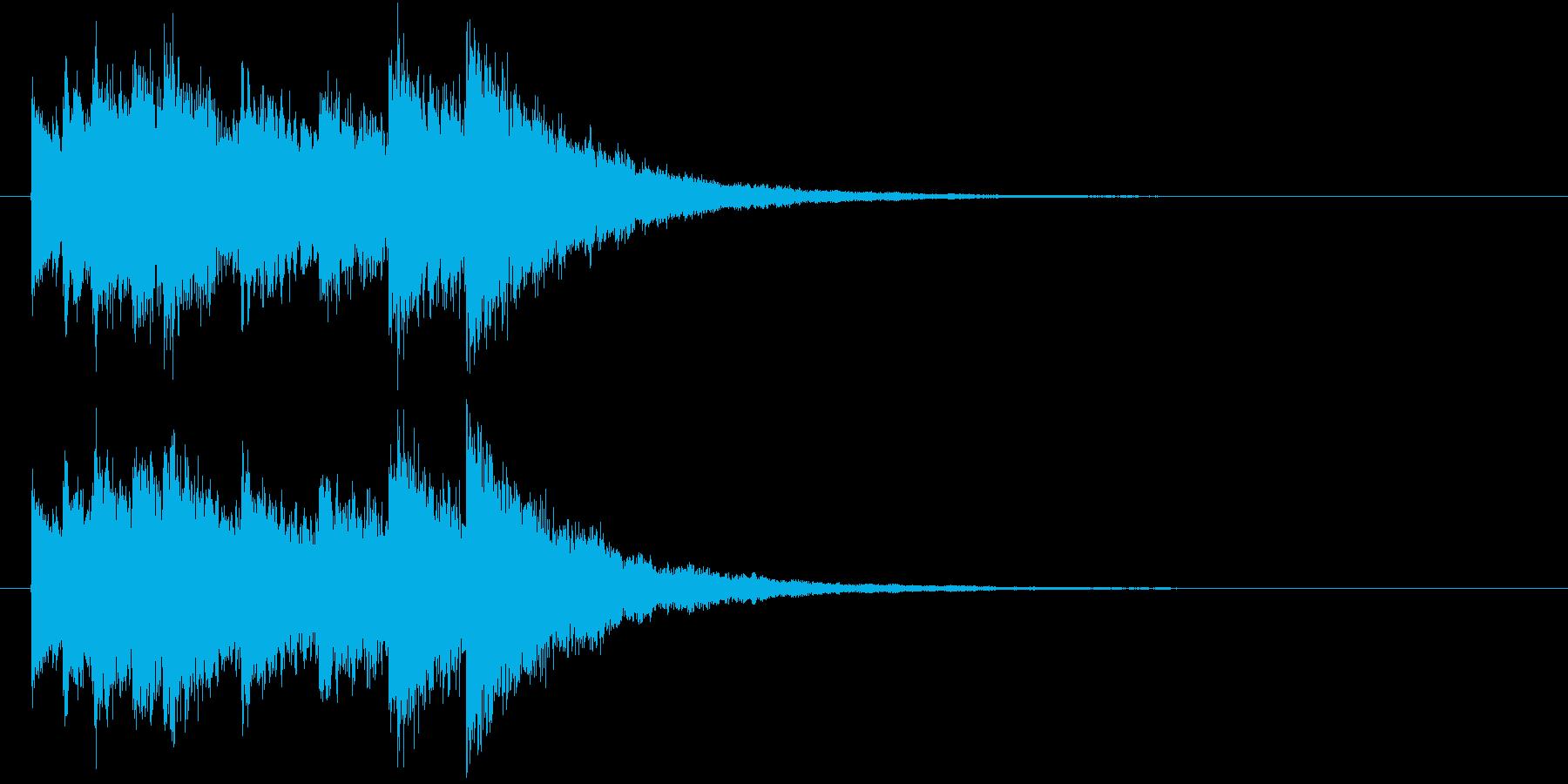 電車の発車・到着ジングル-07(5秒)の再生済みの波形