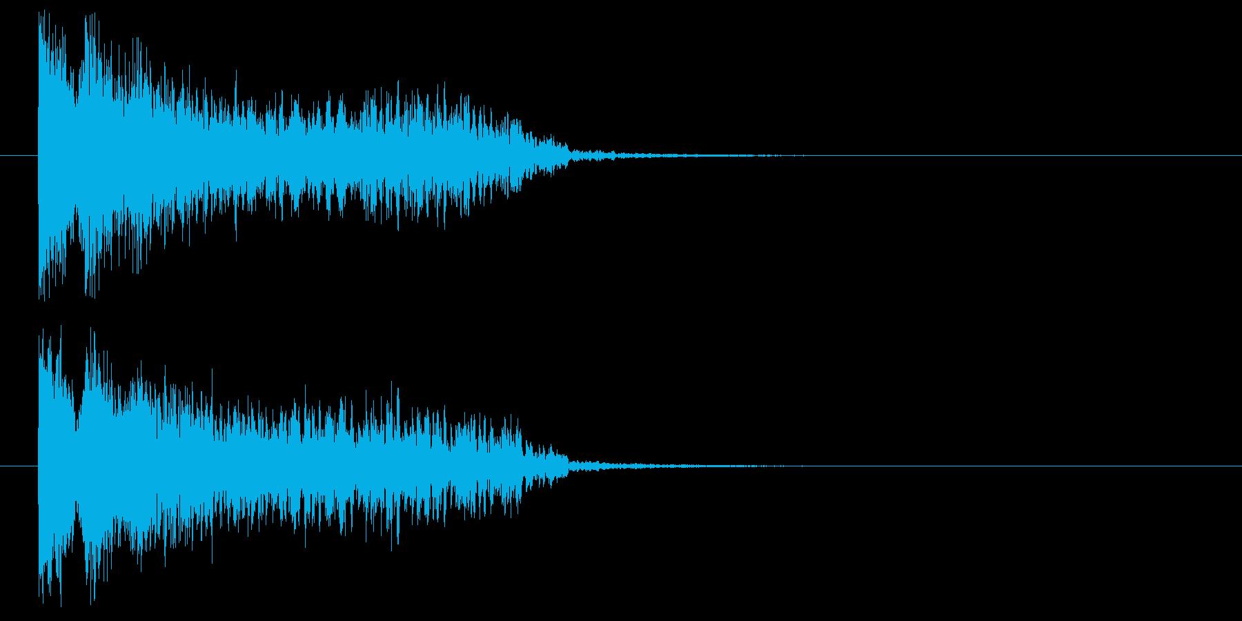 敵側の魔法発動の再生済みの波形