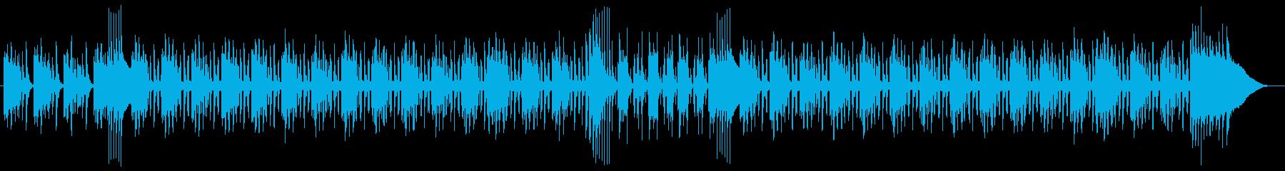 スモーキーな低音ギターの響くダブの曲の再生済みの波形