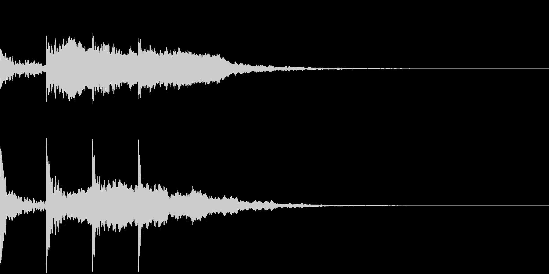 シンプル アナウンス 案内 放送 6の未再生の波形