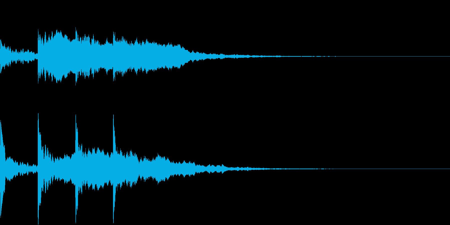 シンプル アナウンス 案内 放送 6の再生済みの波形