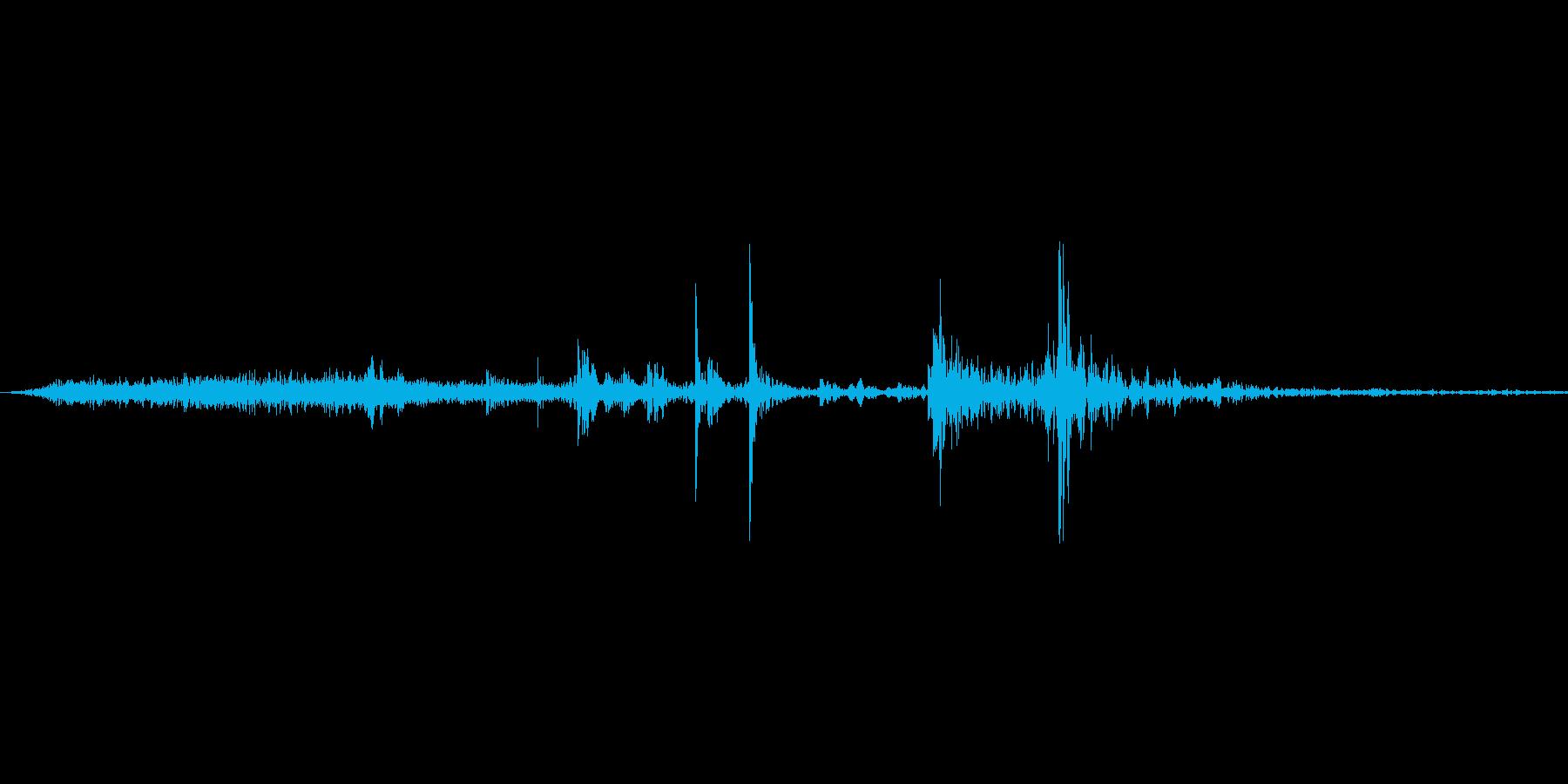 【wav】ページめくり音です_02の再生済みの波形