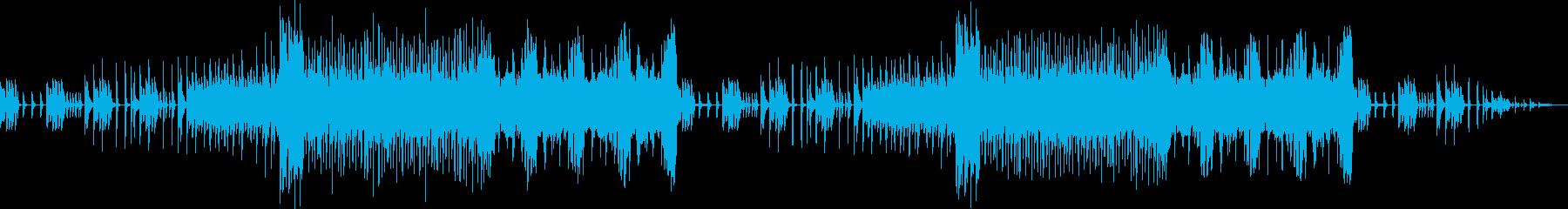 レトロゲーム風BGM(緊迫、戦闘)の再生済みの波形