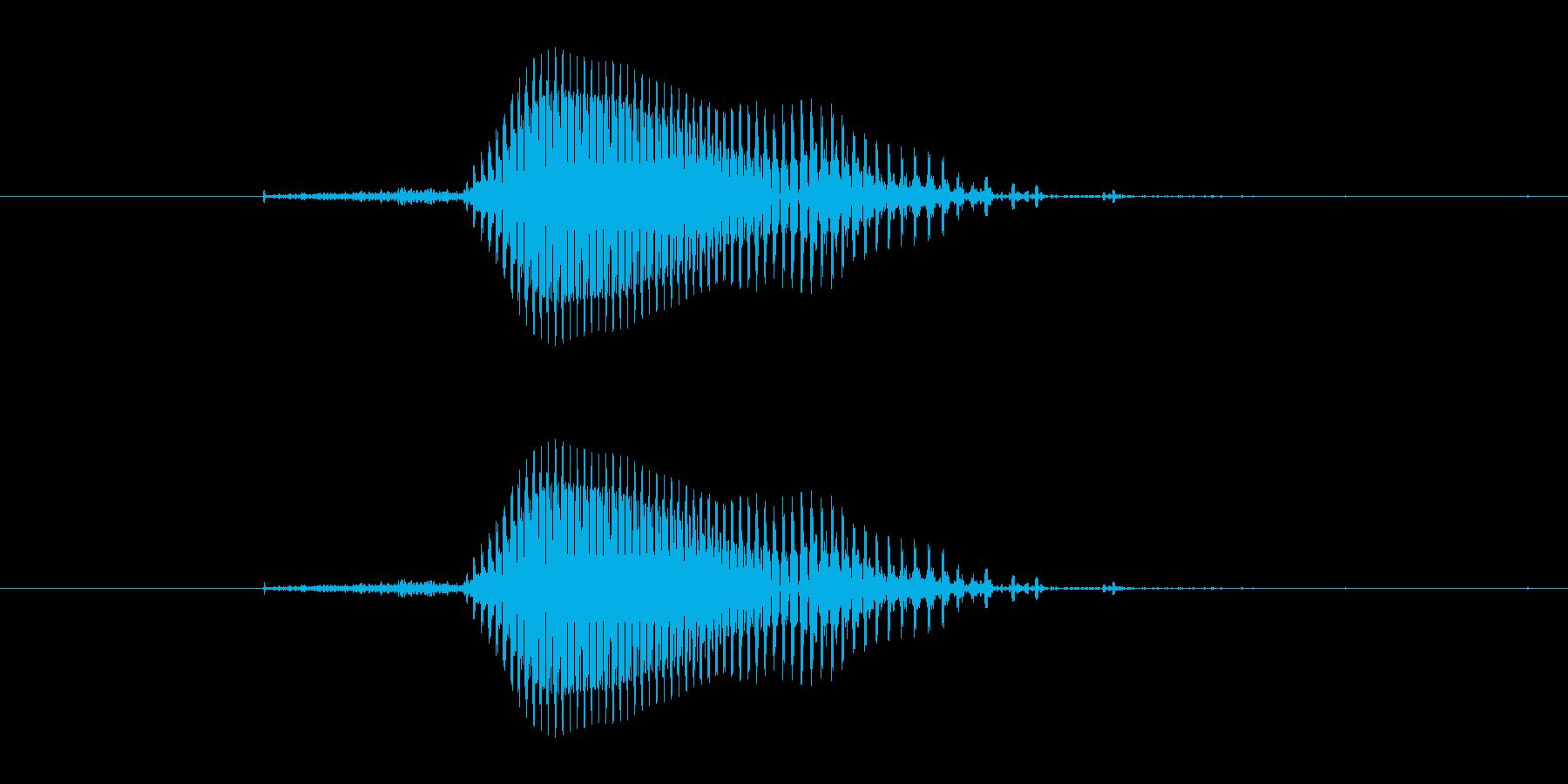【数字】4(フォー)の再生済みの波形