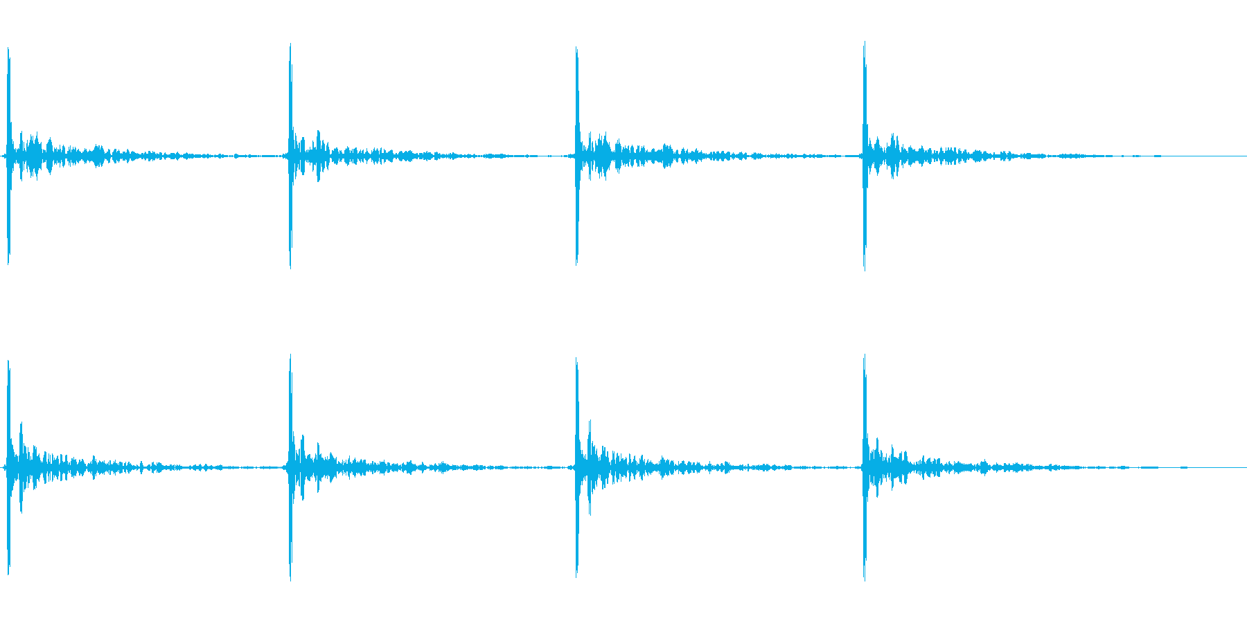 巨大な足音 2の再生済みの波形