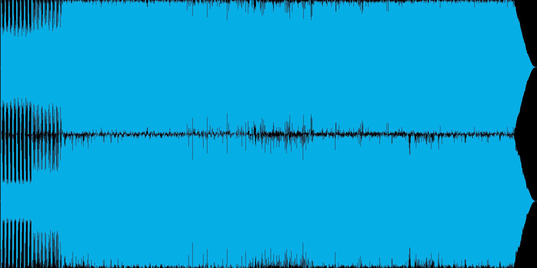 機械的なイメージの速く激しいロックの再生済みの波形