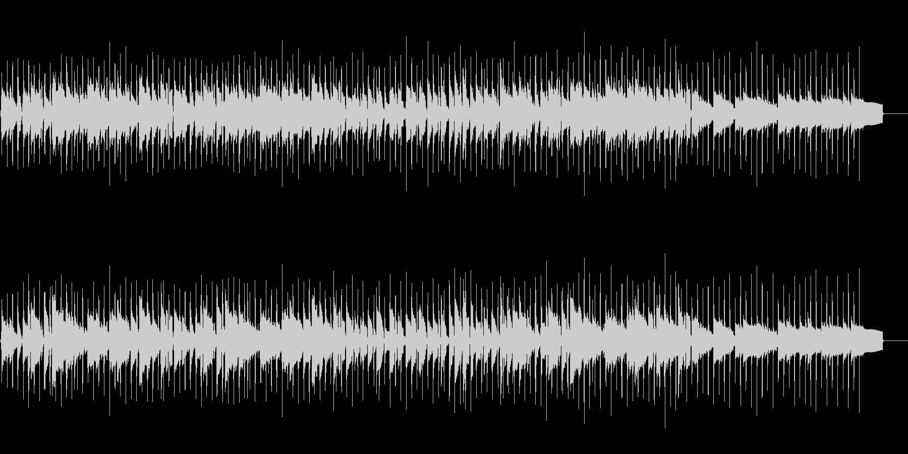 軽快なリズムに合わせた生ウクレレメロディの未再生の波形