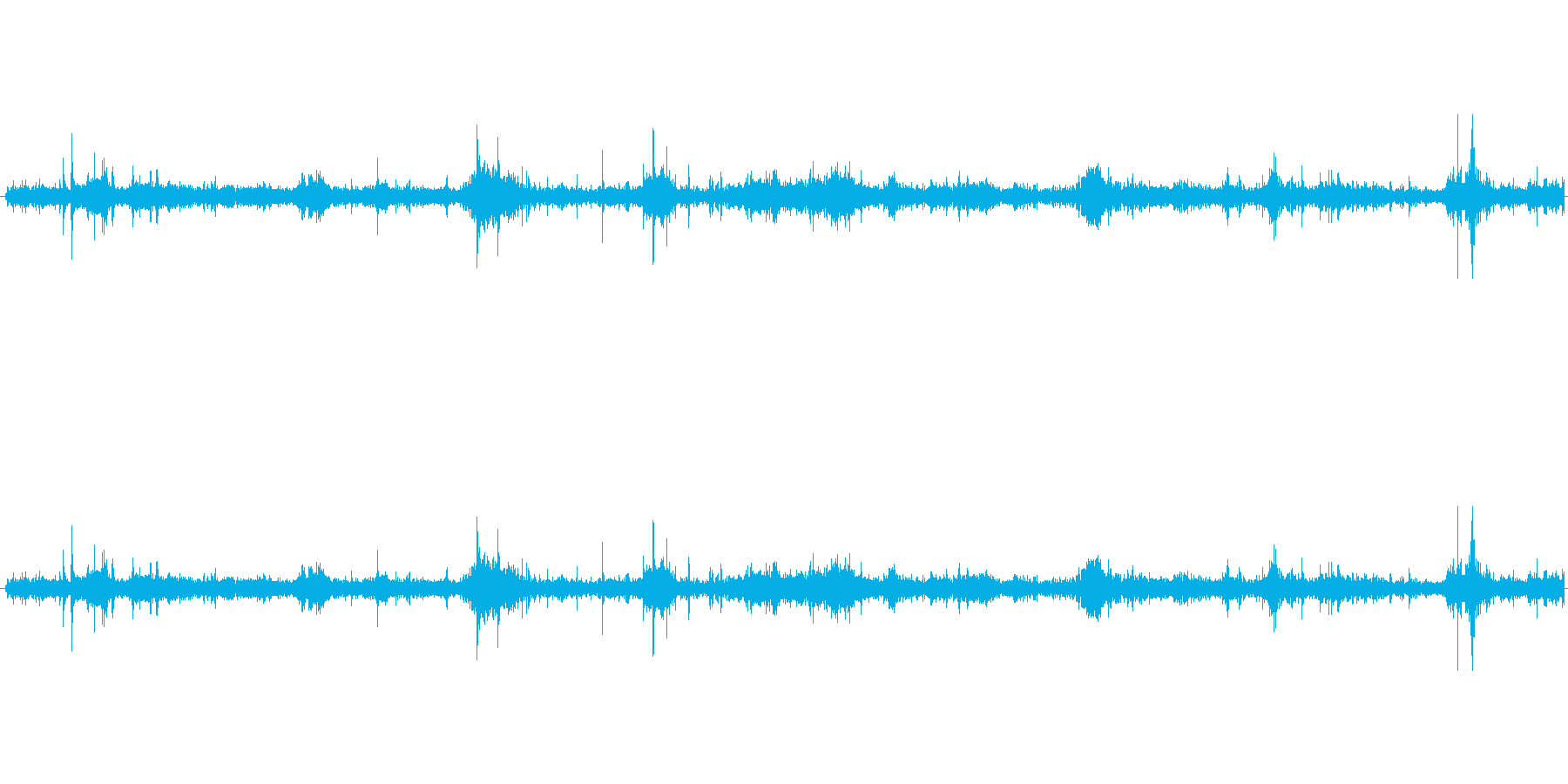 【生音】ザクザクザクザク。木の葉歩く足音の再生済みの波形